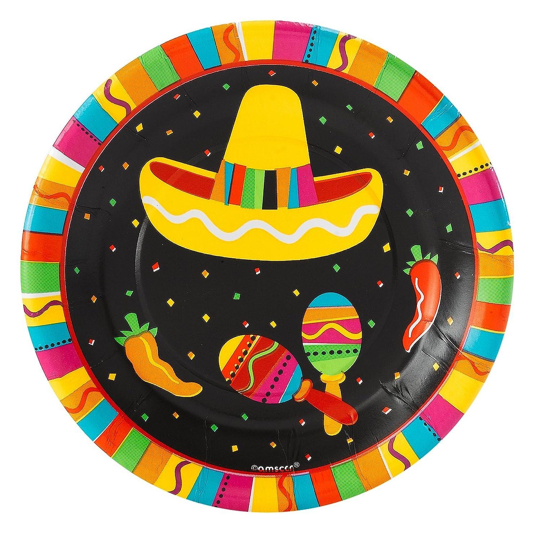fiesta fun 7  plate  sc 1 st  Cinco de Mayo Wikii & Cinco De Mayo Party Paper Plates | Cinco de Mayo Wikii