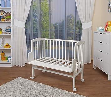waldin lit cododo pour b b berceau hauteur r glable bois naturel ou blanc laqu your. Black Bedroom Furniture Sets. Home Design Ideas
