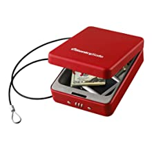 SentrySafe P005CR 0.05 Cubic Foot Combination Compact Safe, Red