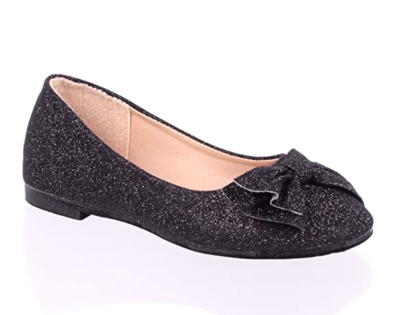 Fashion-Glitter-Bowknot-Slip-on-Cute-Kids-Youth-Sneakers-Girls-Flats-Dress-Shoes-New-Without-Box