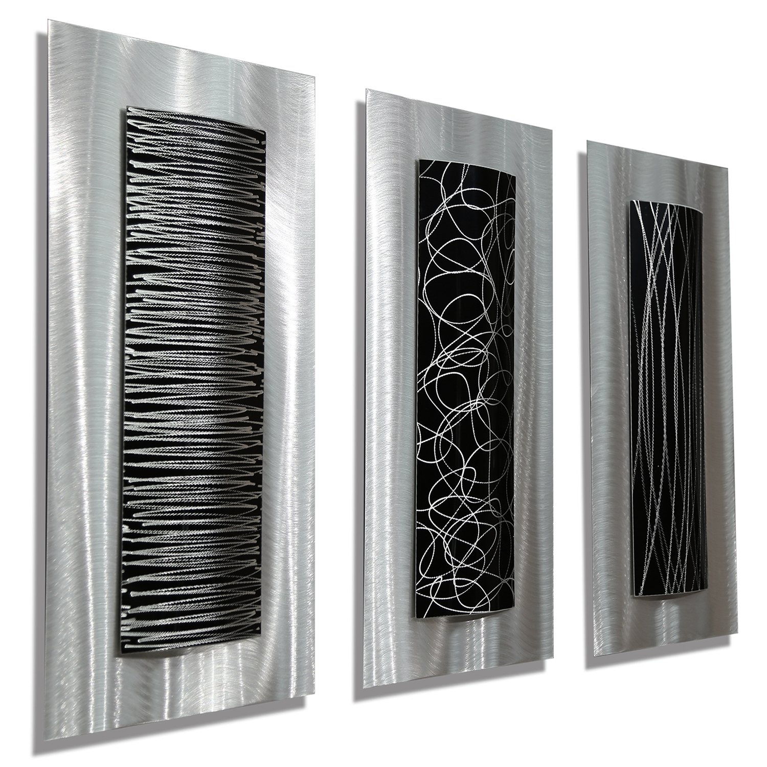Abstract metal wall art panels beautiful and elegant - Contemporary wall art decor ...