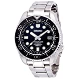 Seiko Men's 'Prospex' Japanese Automatic Stainless Steel Diving Watch, Color:Silver-Toned (Model: SBDX017) (Color: black)