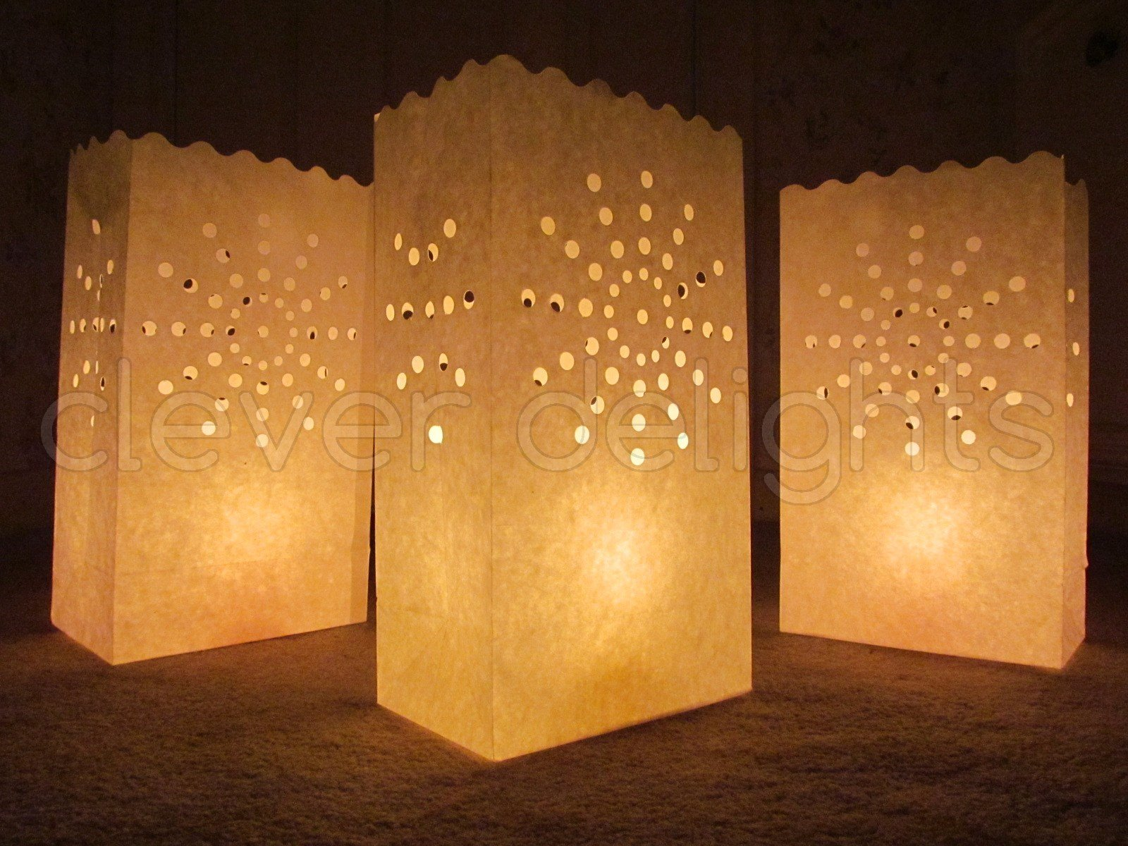 CleverDelights White Luminary Bags