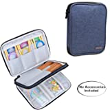 Luxja Knitting Needles Case(up to 8 Inches), Travel Organizer Storage Bag for Circular Needles, 8 Inches Knitting Needles and Other Accessories(NO Accessories Included), Dark Blue (Color: Dark Blue, Tamaño: 8.5