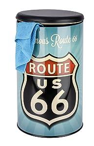 Wenko 21591100 Wäschetruhe Vintage Route 66  Badhocker, Fassungsvermögen 54 L, Stahl, 35,5 x 60 x 35,5 cm, mehrfarbig    Rezension