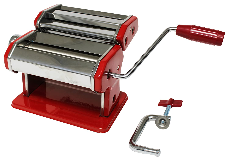 Maquina roja manual para hacer pasta casera fresca hm4 - Maquina para hacer pastas caseras ...