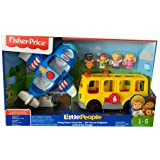 Fisher COS1140480 Price Little People Going Places Travel Bus & Plane Gift Set with Figures, Multi (Color: Multi)