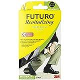 Futuro Revitalizing Dress Socks for Men, Over the Calf, Large, Black, Moderate Compression