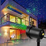 Christmas Motion Laser Lights Projector Outdoor Lighting (Fireworks Show), Wedding Party Birthday Decorative Pattern Moving Stars Seasonal Decorations Landscape for Theme, Bar, Night Club, Celebration (Color: Fireworks Projector Lights)