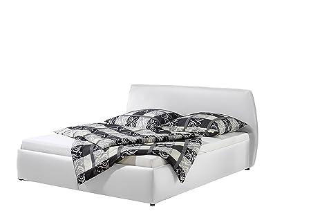 Maintal Betten 232646-4691 Polsterbett Minu 100 x 200 cm, Kunstleder weiß