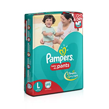 Image result for Pampers Large Size Diaper Pants (68 Count)