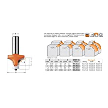 CMT Orange Tools 880.504.11 Solid Surface Rounding Over Bit with Bearing