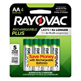 Rayovac Rechargeable AA Batteries, High Capacity Rechargeable Plus AA Batteries (4 Count) (Tamaño: AA 4 Count)