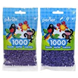 Perler Bead Bag 1000, Bundle of Grape and Iris (2 Pack) (Color: Grape & Iris)