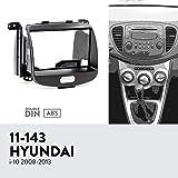 UGAR 11-143 Trim Fascia Car Radio Installation Mounting Kit for Hyundai i-10 2008-2013 (Tamaño: i-10 2008-2013)