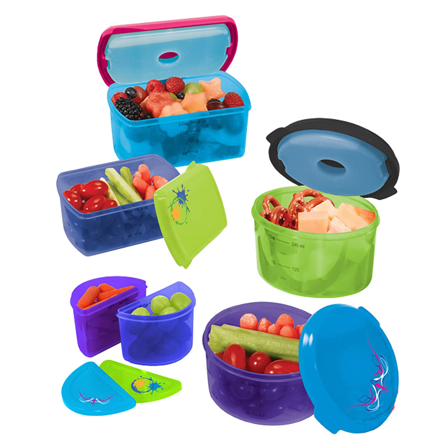 fit fresh kids 14 set reusable lunch container kit w ice pack children school ebay. Black Bedroom Furniture Sets. Home Design Ideas