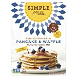 Simple Mills Almond Flour Mix, Pancake & Waffle, Naturally Gluten Free, 10.7 oz (Pack of 3) (Tamaño: 3 Count)