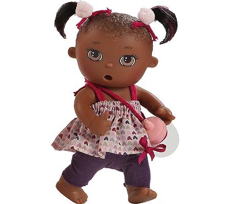 Paola Reina - 03061 - Mini-poupée - Petra - Collection Los Bébés Meones - Boit Son Biberon Et Fait Pipi - 22 Cm