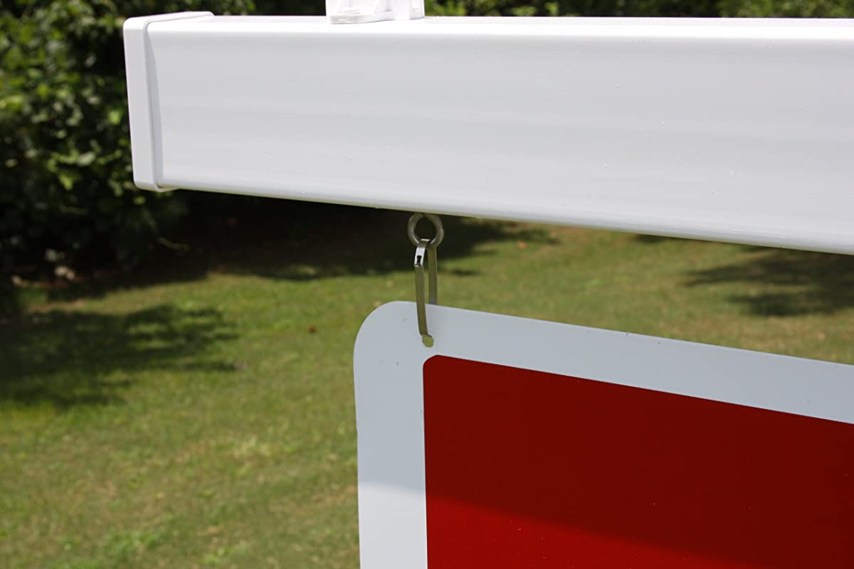Vinyl PVC Real Estate Sign Post - White (Single)