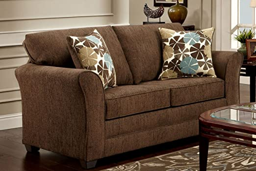 Chelsea Home Furniture Amilia Loveseat, Council Fudge