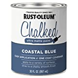 Rust-Oleum 329207 Chalked Ultra Matte Paint, 30 Oz, Coastal Blue
