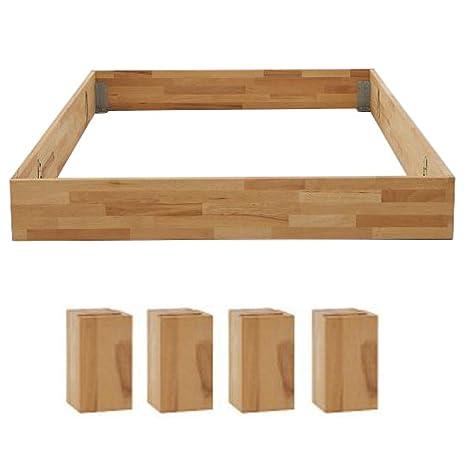 DICO Massivholz-Bettrahmen ohne Kopfteil Komforthöhe 325.44 Größe 180 x 200 cm