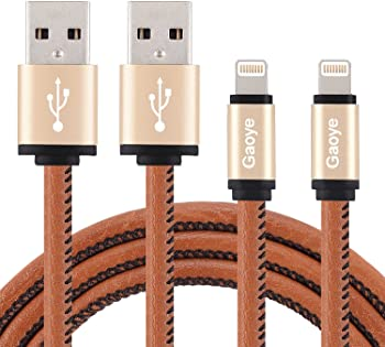 2-Pack 3.3-Ft Lightning to USB MFi Certified Leather Cable