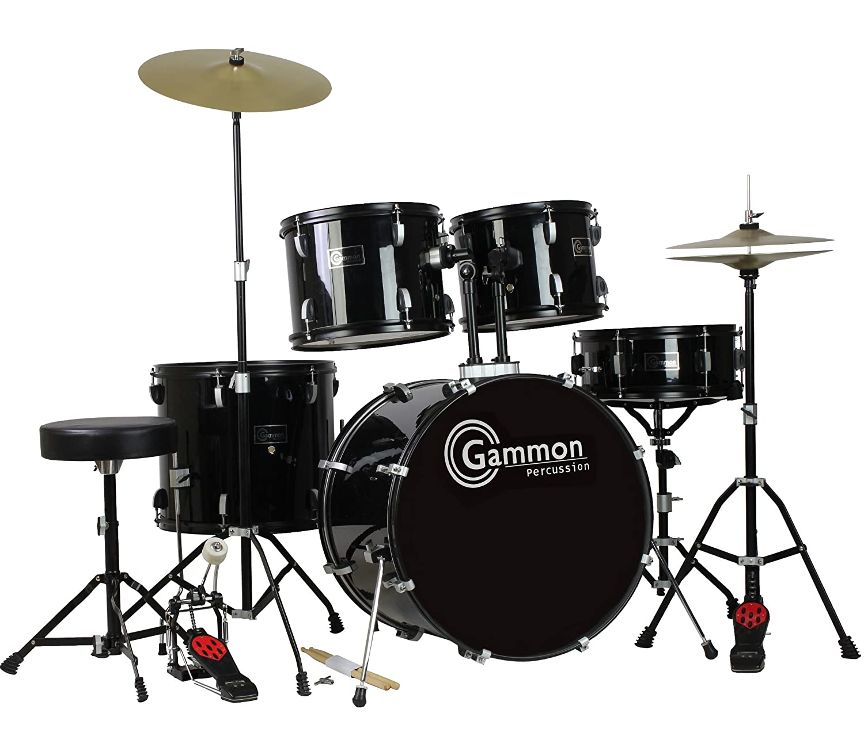 Best Value Drum Set 5 PC Complete Adult Set Cymbals Full