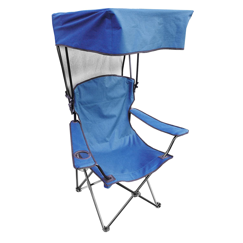 Folding Canopy Chair Blue