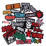 25pcs Bank Rock Music Patches Mixed Band Rock Music Patches Embroidered Badge Punk Hippie Clothes Stickers Iron on for Clothes Jacket Jeans Applique (Tamaño: 25pcs Bank Rock Music Patches)