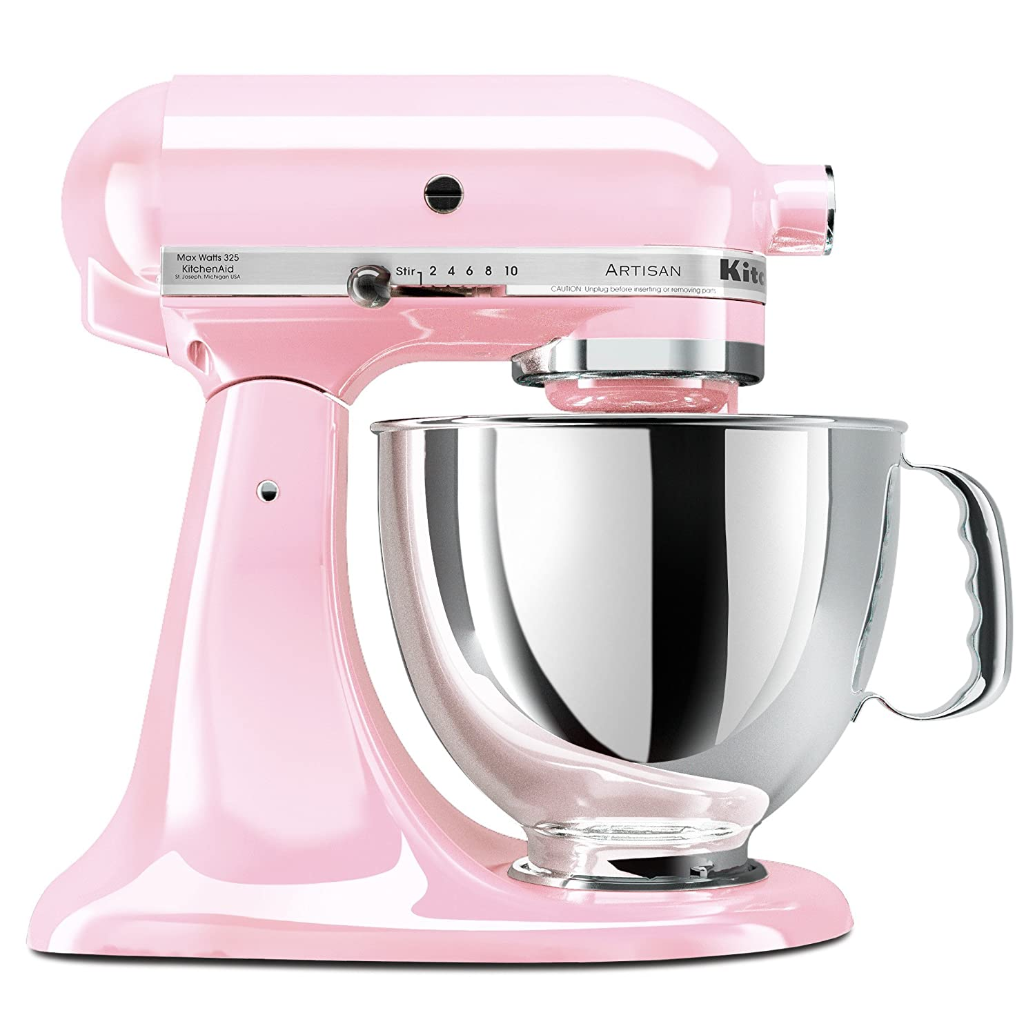 kitchenaid pink artisan 5 quart stand mixer ksm150pspk. Black Bedroom Furniture Sets. Home Design Ideas