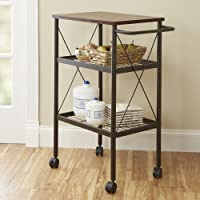 Mainstays Mixed Material Multi-Purpose Cart in Mahogany Finish