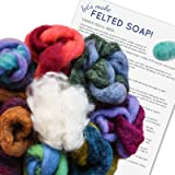 SOAP FELTING KIT: Make Your Own Felted Soap. Kit Includes Wool & Written Instructions. Creative Kids Craft, Gift Idea, Bathroom Décor, Natural Exfoliant. (Color: Soap Wool)