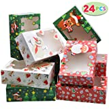 24 PCs Christmas Foil Treats Cookie Gift Box (8.75