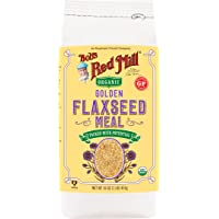 4-Pack Bobs Red Mill Organic Golden Flaxseed Meal, 16-Ounce Packages