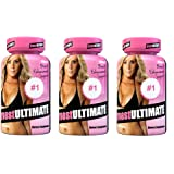 breastULTIMATE Female Breast and Butt Enhancement Formula All Natural Enlargement Pills 60 Capsules 3 Bottles