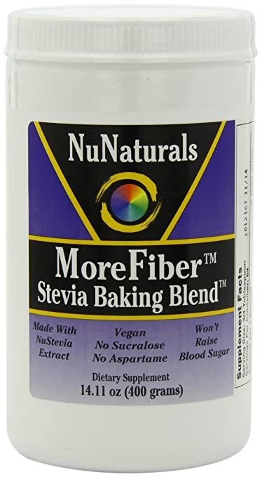Отзывы NuNaturals Morefiber Stevia Baking Blend Powder, 14.11-Ounce