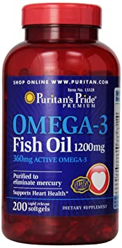 Omega 3 fish oil 1200 mg 200 Softgels 13328