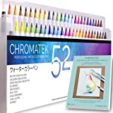 52 Watercolor Brush Pens, Tutorial Pad and Online Video Series by Chromatek. Real Brush Tip. Vivid. Smooth. Blendable. Long Lasting. Professional Artist Quality. 50 Colors 2 Blending Brushes. (Tamaño: 52)