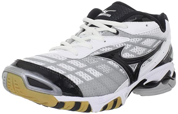 Mizuno Volleyball Shoes Black And Silver Shoe,white/black/silver