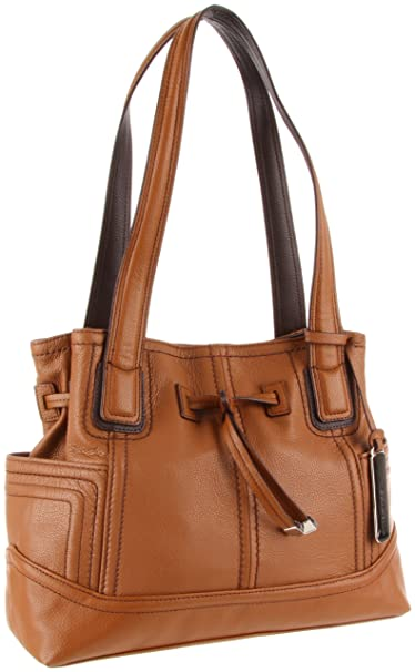 Tignanello Super Stitch Drawstring Shoulder Bag 34