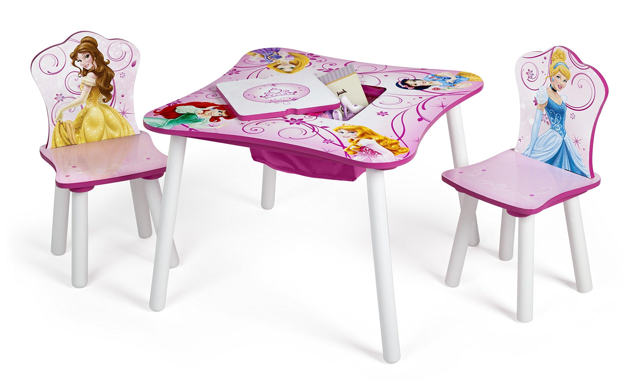 delta children table and chair set with storage disney princess ebay. Black Bedroom Furniture Sets. Home Design Ideas