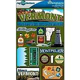 Reminisce Jet Setters Dimensional Stickers-Vermont (Color: Vermont)