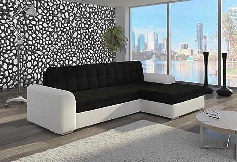 Couch Couchgarnitur Sofa Polsterecke CF04 Soft 17/ Sawana 14 rechts (die Ottomane kann schriftlich kostenlos auf die andere Seite geändert werden) Wohnlandschaft Schlaffunktion Wohnzimmer Kinderzimmer Gästezimmer