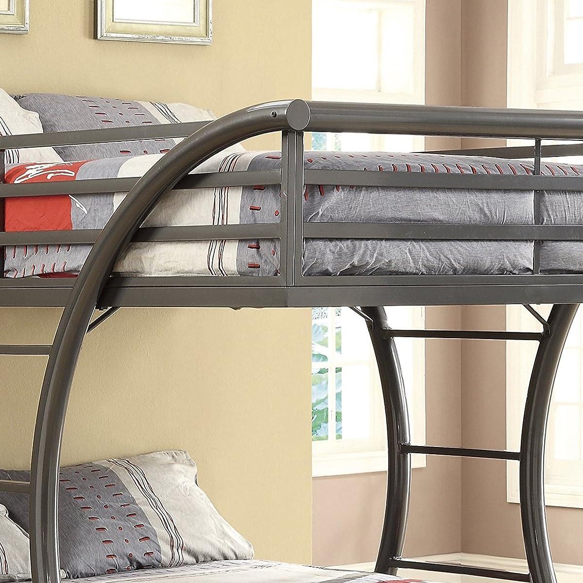 Coaster Home Furnishings 460078 Bunk Bed, Gunmetal