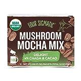 Four Sigmatic Mushroom Mocha - USDA Organic Coffee and Cacao with Chaga Mushrooms - Vegan, Paleo - 10 Count