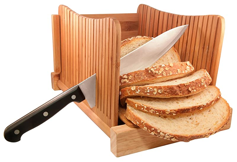 DB-Tech Bamboo Wood Compact Foldable Bread Slicer via Amazon