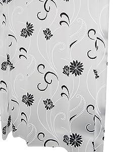Ridder 303140 Anda - Cortina de ducha con estampado (180 x 200 cm), color gris y negro   revisión y descripción más