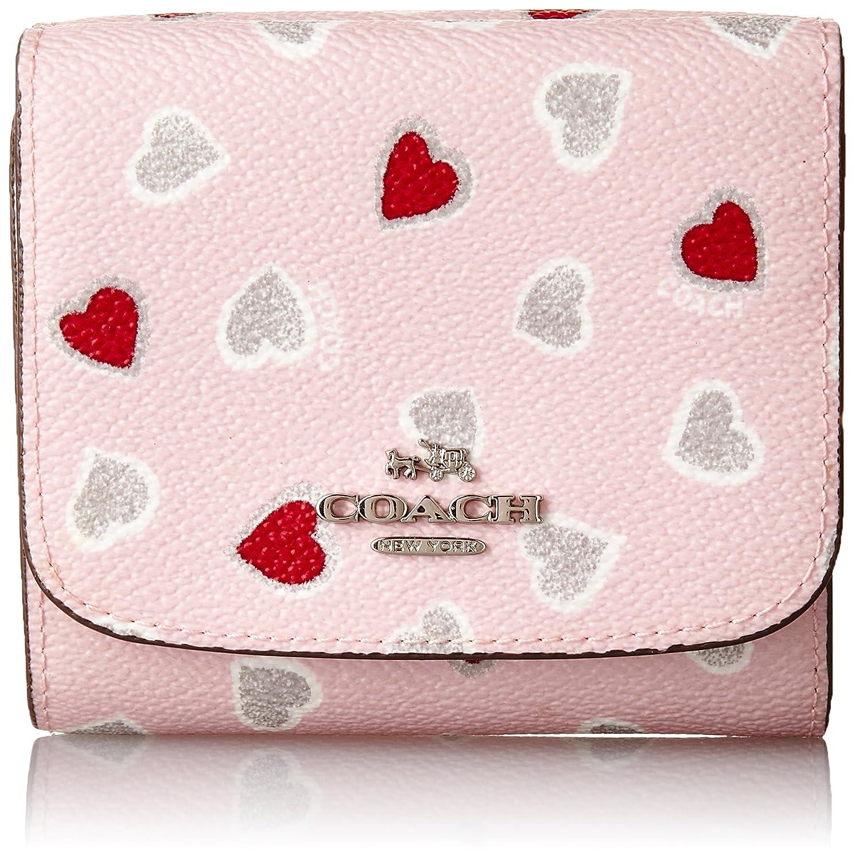 6e83bb036f4b コーチ COACH 53816 スモール ウォレット ハート プリント コーテッド キャンバス ピンク色二つ折り財布