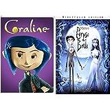 Tim Burton's Corpse Bride & Coraline DVD Animated Film Bundle 2-pack